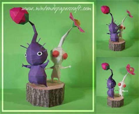 Pikmin Papercraft - pikmin papercraft white purple paperkraft net free