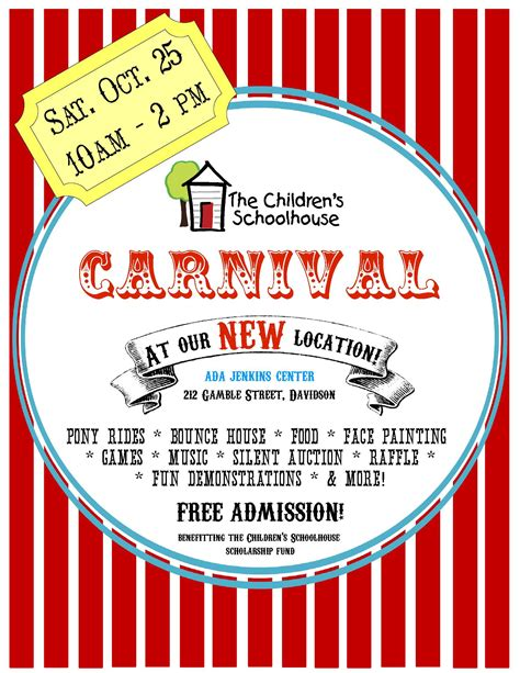 templates for carnival flyers 8 best images of blank carnival flyer template church