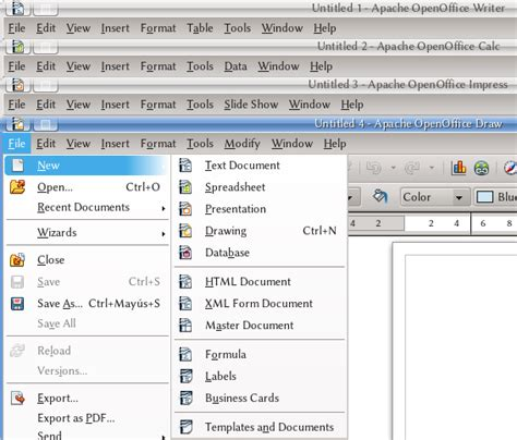 Apache Openoffice User Interface Apache Openoffice Wiki Open Office Menu Template