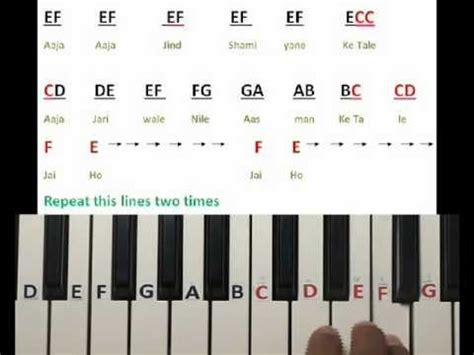 keyboard tutorial for christian songs jai ho song on keyboard part 1 youtube