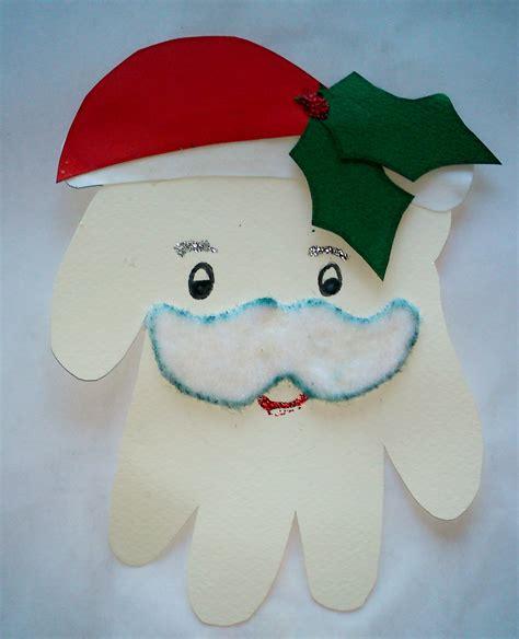 santa craft for handprint santa claus family crafts