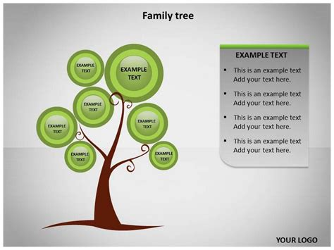 tree template for powerpoint family tree template