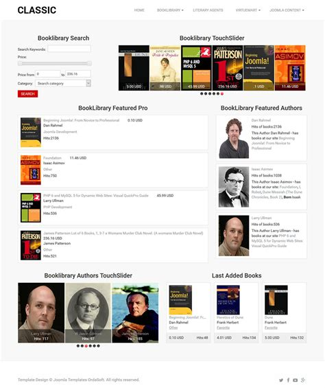 template joomla library ordasoft classic book library v3 6 2 book online store