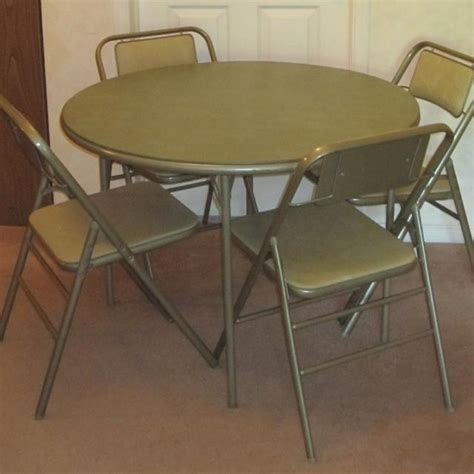 amazon card table chairs best vintage samsonite foldable card table and four