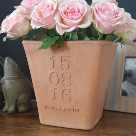 personalised engraved special date pot  letterfest