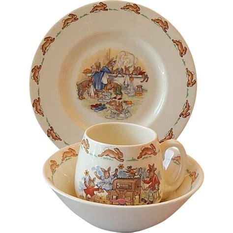 plate bowl mug royal doulton bunnykin plate bowl mug from