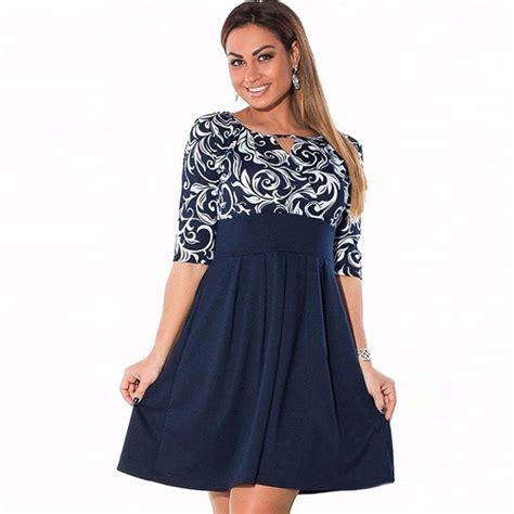 Aura Dress Jumbo Big Size Dress large size 6xl summer dress 2016 plus size midi dress casual patchwork dresses plus size