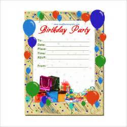 printable birthday card templates 20 birthday invitations cards sle wording printable
