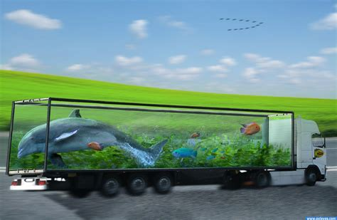 Mainan Truck Container Aquarium fish tank truck picture by draco for creative fishtanks