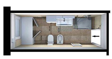 disposizione bagno rettangolare come arredare bagno lungo e stretto ristruttura interni