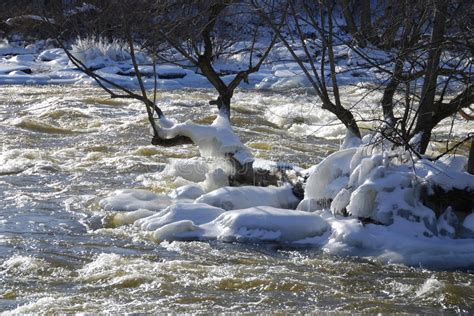plan b icy icy rapids stock image image of water rapids frost