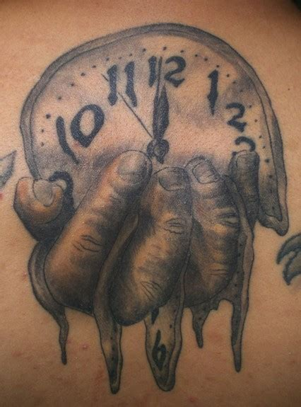 melting clock by daniel rosini tattoonow
