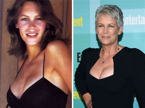 jamie lee curtis now stars from the 70 s then now crazy stuff pinterest