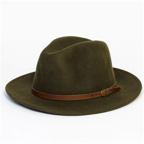 mens wool vintage felt fedora wide brim hat cap new