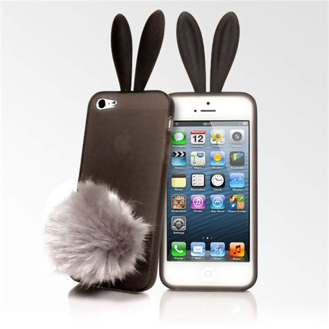 Search Email Iphone 5 Bunny Ears Iphone 5 Transparent Black Kawaii