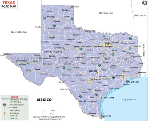 texas in the map texas road map texas highway map