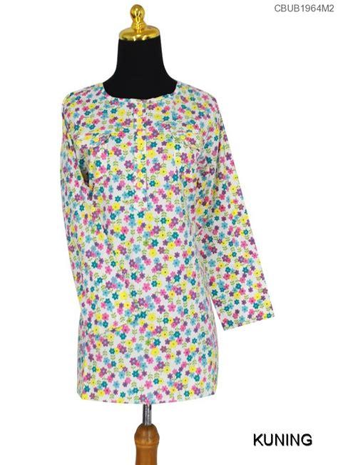 Tunik Bigsize Motif Bunga blus tunik muslim bunga daliana atasan muslim murah batikunik