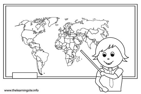 coloring pages for school subjects social studies class clipart black and white 12814 baidata