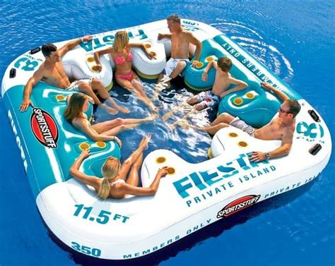 Inflatable Beach Chair Summer Party In The Water With Fiesta Island Floating Lounge