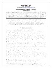Hr Manager Sample Resume Hr Generalist Resume Best Resume Sample