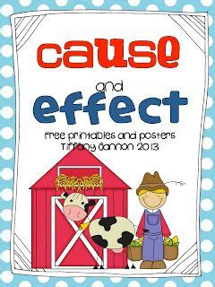 printable cause and effect poster cause and effect with click clack moo cows that type
