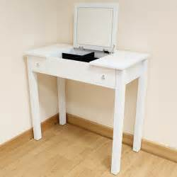 Small Makeup Vanity Desk White Dressing Room Bedroom Vanity Make Up Table Desk Folding Mirror Storage Ebay