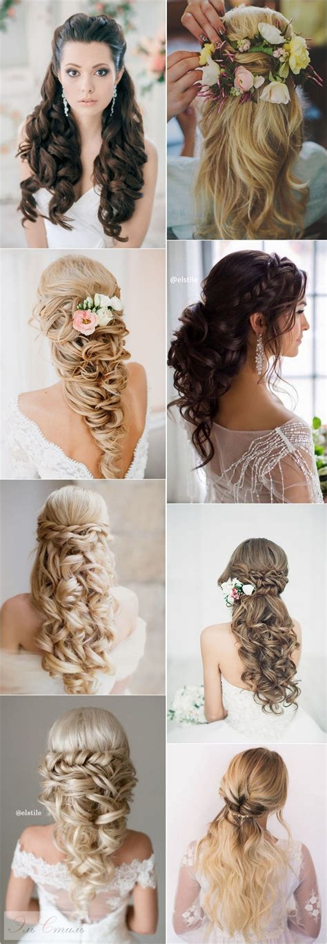 40 stunning half up half wedding hairstyles with tutorial tutorials and weddings