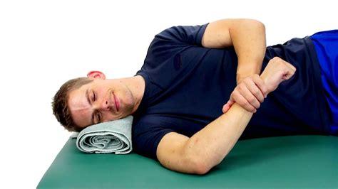 Sleeper Stretch For Shoulder sidelying rotation stretch sleeper stretch