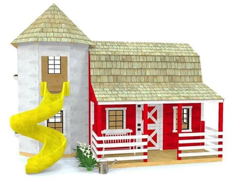 barn silo playhouse plan sizes playhouse plan
