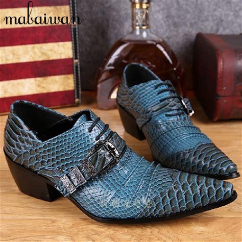 Sepatu Sneaker Snake Leather Semprem 01 7 blue snake print genuine leather dress shoes lace up mens prom wedding shoes business oxford