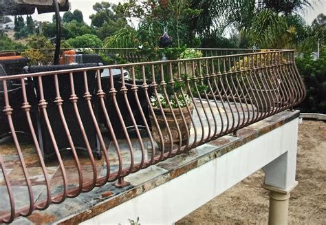 deck railing sections metal porch railing parts attractive design inspiration