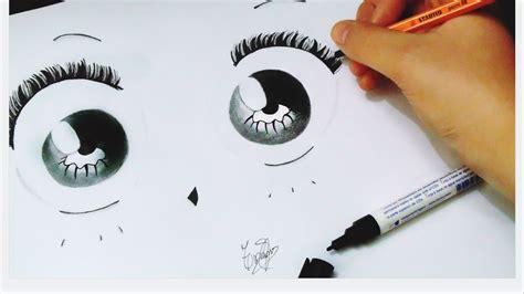 imagenes de ojos kawaii c 243 mo dibujar ojos kawaii f 225 cil tamara quiroga youtube