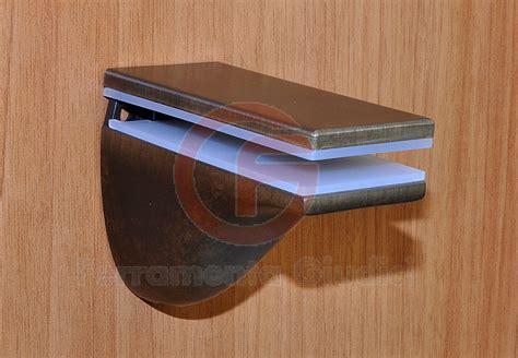 supporti per mensole di vetro reggimensola zama bronzo sfumato per mensole vetro 1550 ebay