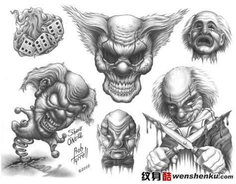 evil clown tattoo design 40 best clown designs