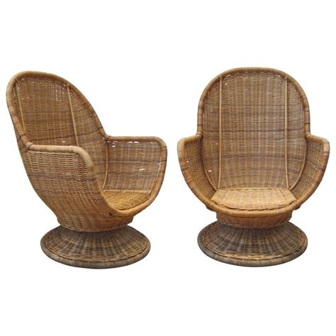 furniture large swivel chair large egg shape swivel and tilt rattan chairs at 1stdibs