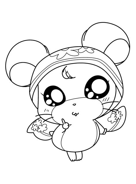 hamtaro coloring page cartoon characters coloring pages