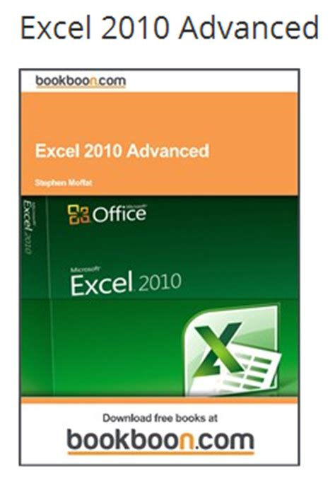 free pdf books to learn ms office 2010