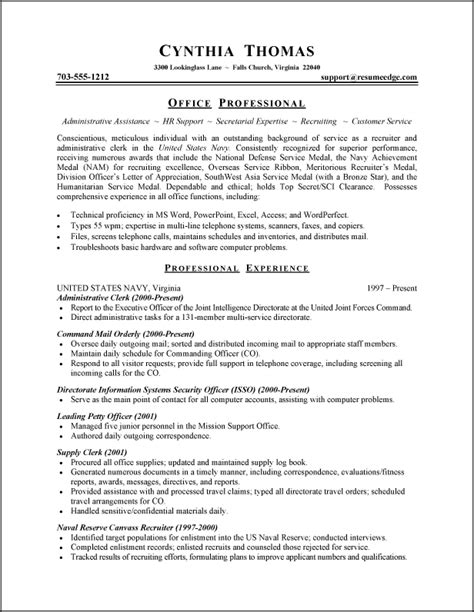 senior resume sles resume sles of administrative assistant resume sles for