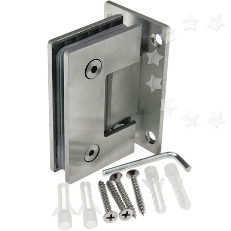 Shower Door Brackets New Bracket Frameless Wall To Glass Shower Door Hinge Wall Mount Hinge 8 12mm Ebay