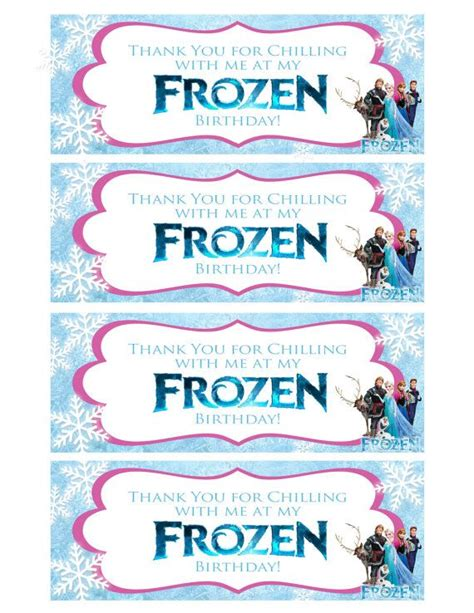 printable olaf bag toppers frozen favor bag toppers instant download disney frozen