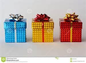 Three christmas gifts stock photography image 35079072