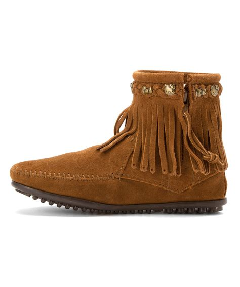 fridge boots minnetonka s hello 226 174 fringe boot boots in