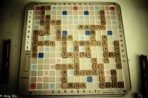 is wu a scrabble word photo of the day scrabble board ming wu photos
