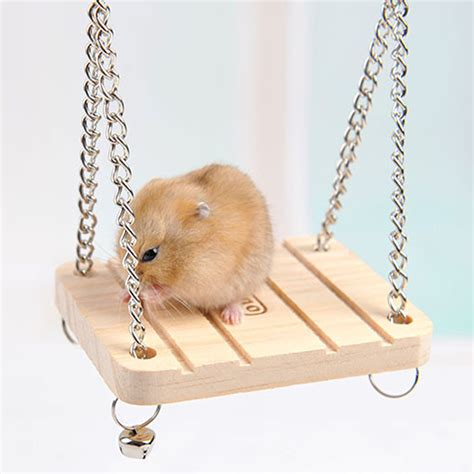 Small Hanging Ls by Pet Toys Hamster Rabbit Mouse Chinchilla Wooden Hanging