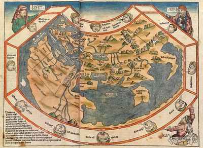 15 century map ancient world maps world map 15th century