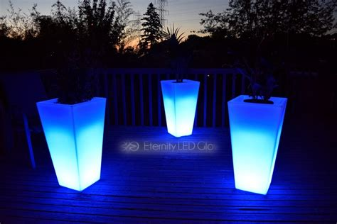 light  flower pot  led flower pot glow planter