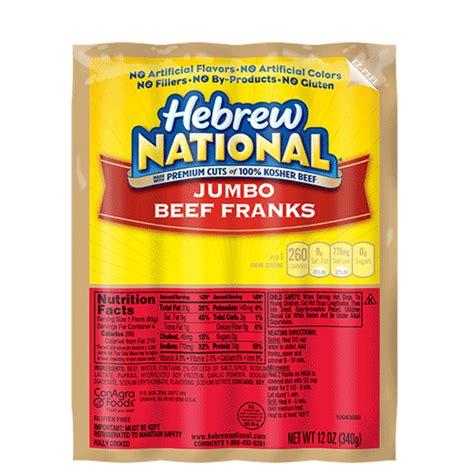 hebrew national dogs jumbo beef franks hebrew national