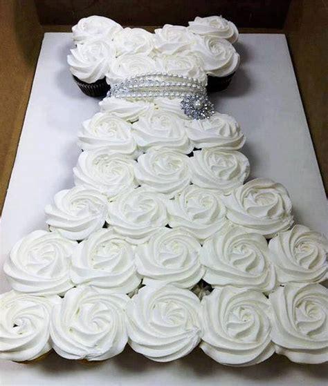 how to make a cupcake bridal shower cake wonderful diy amazing wedding dress cupcake