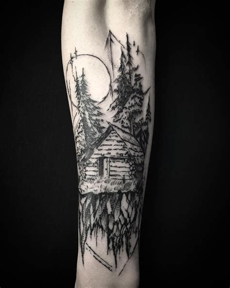 woodland tattoo designs pin by matt d mistd on woodland cabin
