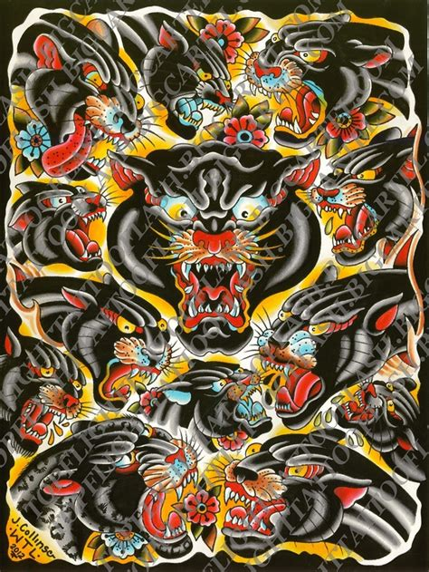 panther flash page 18 quot x 24 quot by john collins tattoo